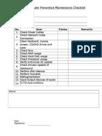 Routine Computer Preventive Maintenance Checklist V5 0