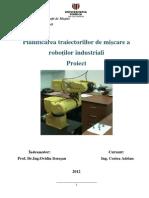 Planificarea traiectorilor de miscare al robotilor industriali