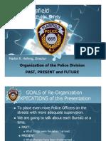 Plainfield (NJ) Police Reorganization Proposal (2007)