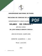 Silabo Cirugia I-2015-UNP