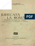 Stefan Berechet- Judecata La Romani Pana in Sec. Al XVIII-lea