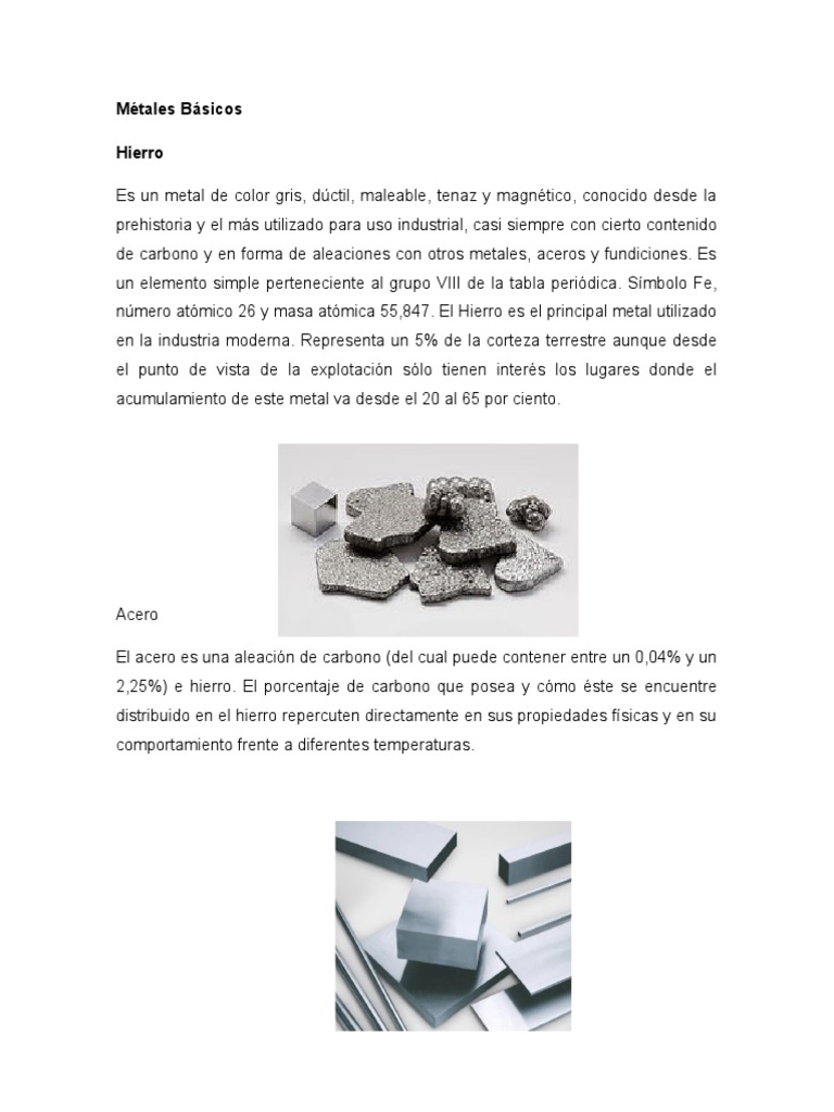 Mtales bsicos 1528811975v1 urtaz Images