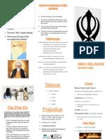 sikh brochure