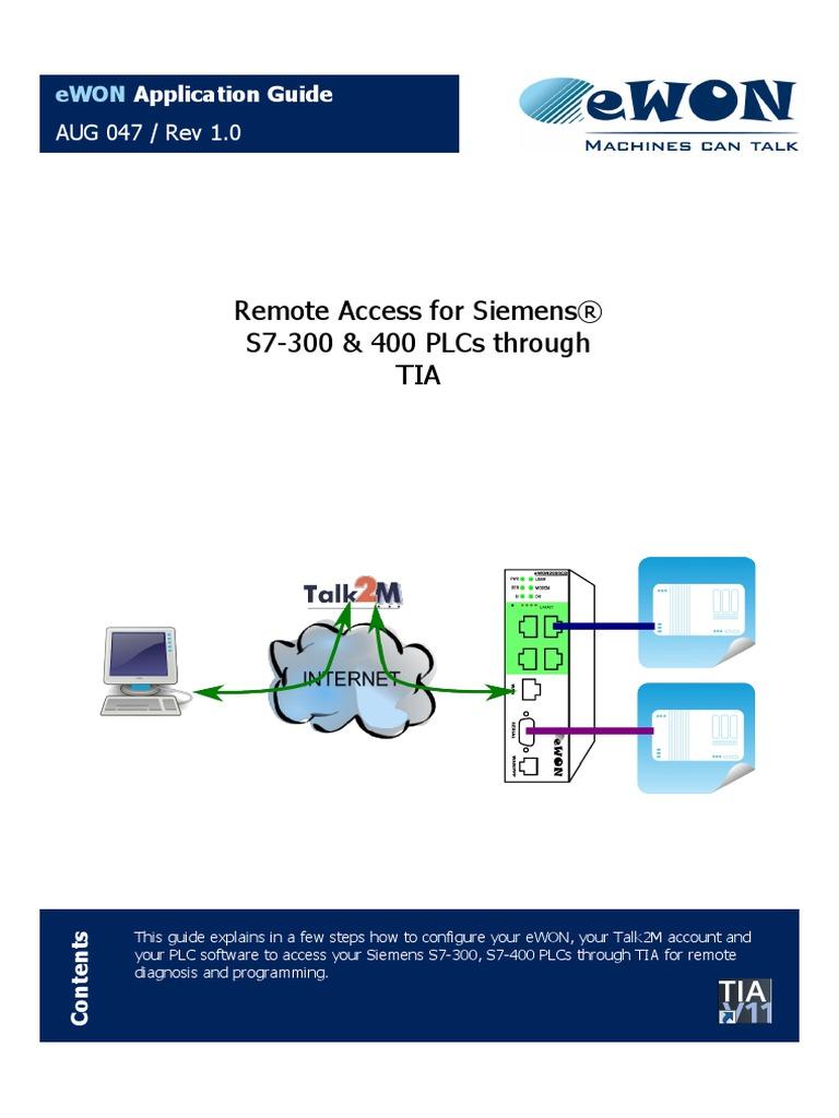 AUG-047-0-En-(Remote Access for Siemens S7-300&400 PLCs Through TIA