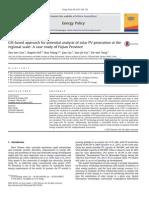 GIS-based approachforpotentialanalysisofsolarPVgenerationatthe regionalscale:AcasestudyofFujianProvince