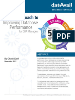 5S-Approach to Improving Database Performance for DBA Managers