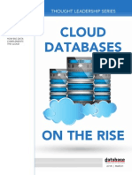 DBTA Thought Leadership Series Cloud Databases on the Rise