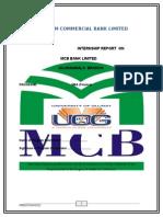 MCB BANK Internship Report