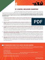 Magnet Digital Inclusion Champion Pledge
