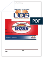 Internship Report on Boss Plastic Industry