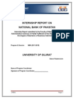 Internship Report on National Bank of Pakistan