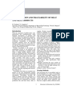 Identification and Traceability of Meat and Meat