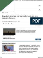 Deputado Chavista é Encontrado Morto Em Sua Casa Em Caracas - TV UOL