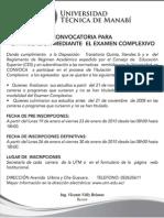 Boletin 493 La Titulacion Mediante El Examen Complexivo