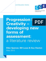 CCE Progression in Creativity Literature Review 2012