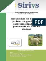 Mecanismos de Herencia y Parametros Genetiscos de Caracteres Ligados a La Produccion de Fibra en Alpacas