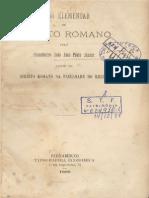 Direito Romano - Cons. João José Pinto Júnior