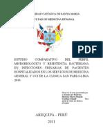 Estudio Comparativo Del Perfil Microbiologico y Resistencia Bacteriana en Infecciones Urinarias de Pacientes Hospitalizados en Los Servicios de Medicina General y Uci en a Clinica Sana Pablo