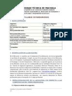 Syllabus Informática I  Año 2015 - 2016