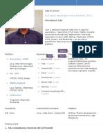 Resume Adarsh Angularjs Full Stack