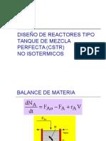 CSTR y ecuaciones de diseño