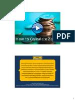 How to Calculate Zakah