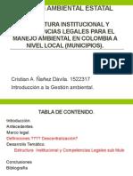 I.G.a Estructura Institucional y Competencias Legales Para El Manejo Ambiental en Colombia a Nivel Local (1)