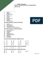 Organic Chemistry Grade 12 Revision Memorandum (1)