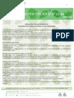 Informativo Tecnico 12 14 Lavagem Das Linhas Laterais Ou de Emissores