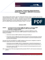 Supplemental Documentation—Frequently Asked Questions Home Affordable Modification