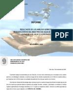 Documento Final Resultados Muestreo Agua 2009