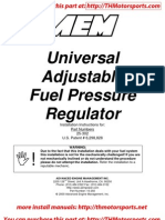 Installation Instructions Universal Fuel Regulator 25-302