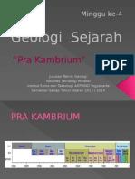 Geo Sejarah (Pra Kambrium)