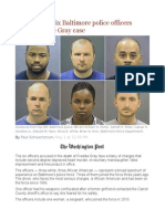 A Look at the Six Baltimore Police Officers Charged in the Gray Case