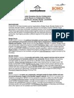 Boulder interim report on collaborative homeless efforts