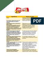 Skittles Ingredientes