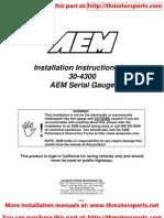 AEM Serial Guage Installation Instructions 30-4300