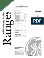 GE RANGE JPB78 Manual