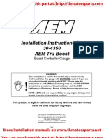 AEM Installation Instructions 30-4350