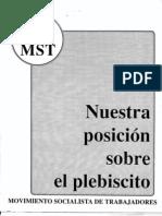 Posición del MST ante el plesbicito de 1989