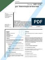 ABNT NBR 10740 - Agua - Determinacao de Fenol Total