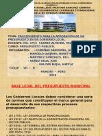 PROCEDIMIENTO PARA LA APROBACIÓN DE UN PRESUPUESTO EN UN GOBIERNO LOCAL.(GRUPO 8.).pptx