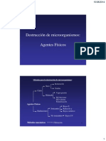 Destrucción de Microorganismos MÉTODOS FÍSICOS