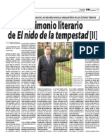 Testimonio Literario de Yuri Vásquez. Segunda parte.