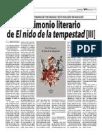 Testimonio Literario de Yuri Vásquez. Tercera parte.