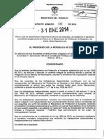 Decreto 135 Del 31 de Enero de 2014