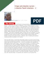 Tamil Lunatic Fringe Anti-Muslim Racism - Observation on Muslim-Tamil Relations – 2