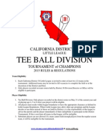 2015 T-Ball Tournament of Champions Rules 04-29-15