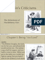 Huck Finn Criticisms