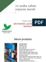 Paket Usaha Sabun Transparan Murah